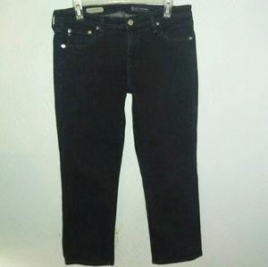 AG Jeans 32 the Stevie Crop Slim Straight Black